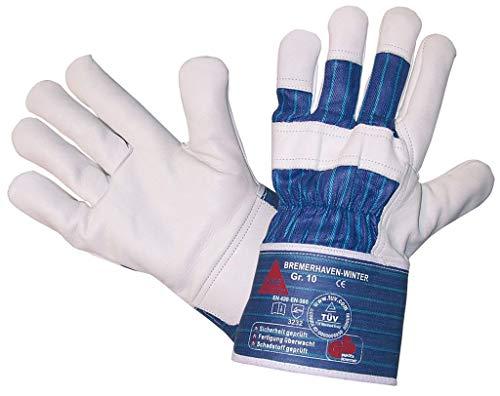 StrongAnt® - BREMERHAVEN-WINTER PSA-Kat. II, Arbeitshandschuhe Winter-Handschuhe, 5-Fg.-Sicherheitshandschuhe aus Vollleder Gr.12 VPE:12 paar
