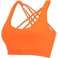 Eilyee Criss Cross Back Padded Sports Bra