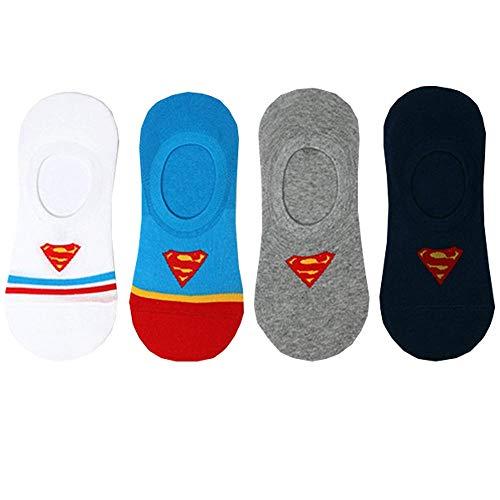 Superheld Superman Sommer Socken Charakter Socken Herren Keine Show Socken 4 Paaren