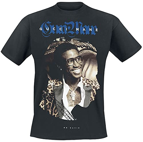 Gucci Mane Leopard tee Hombre Camiseta Negro M, 100% algodón, Regular