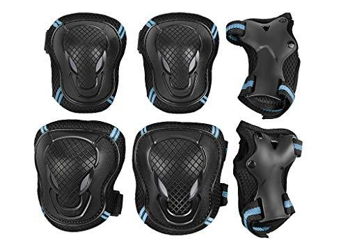 IPENNY 6 in 1 Knieschützer Set Schutzausrüstung für Kinder & Erwachsene Schützer inliner Weiches Schonerset Knieschoner Ellenbogenschützer Handgelenkschoner Skateboard Roller Fahren Outdoor Sport