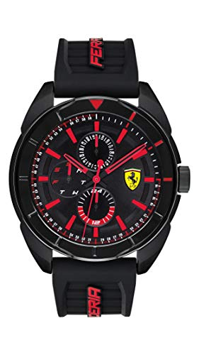 Scuderia Ferrari Herren Multi Zifferblatt Quarz Uhr mit Silikon Armband 830547