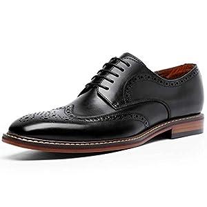 [タレークス] ロムリゲン ビジネスシューズ 紳士靴 メンズ ウイングチップ 本革 ブラック 26.0cm6737-11