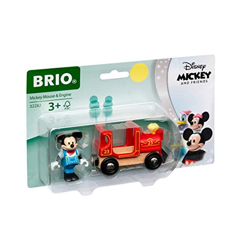 BRIO World 32282 Micky Maus Lokomotive - Ergänzung für die BRIO Holzeisenbahn - Empfohlen ab 3 Jahren