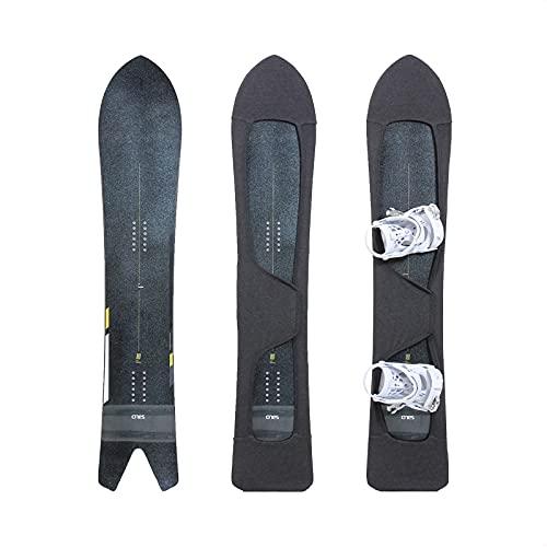MONS For Powder Board Knit Cover スノーボード用ニットカバー ソールカバー ビンディング付けたまま ベルクロストラップ式|ファブリックソフト 通気性 伸縮性抜群 | ヘザーグレー(台湾製) (M)