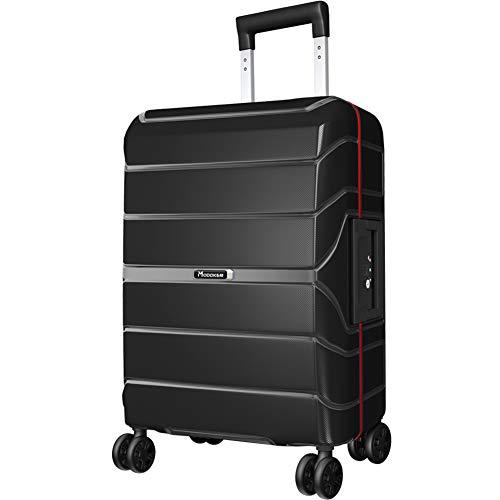 Modoker luggage Expandable Suitcase Black