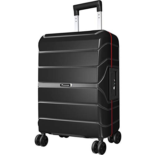 Modoker 20' Hardside Carry On Spinner Suitcase Black