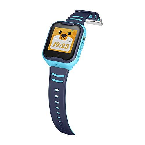 DUANQI Kinder Smart Watch Phone, Smartwatches mit Wasserdicht IP67, SOS, Voice Chat, Kamera, Wecker Armbanduhr Smartwatch Junge Mädchen Birthday,Blau