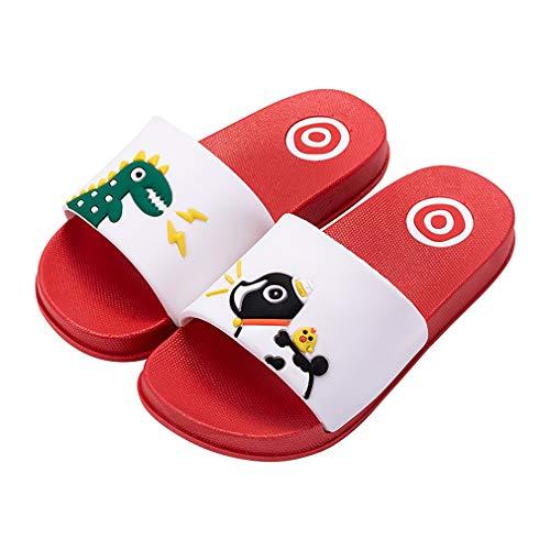 KVbaby Zapatos de Playa y Piscina para Niños Suave Bañarse Chanclas para Niña y Niño (28/29EU, Blanco-Rojo)