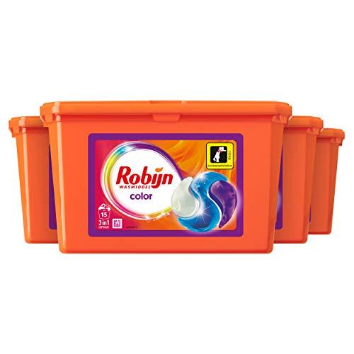 Robijn Color 3 in 1 Wascapsules 4 x 15 wasbeurten Voordeelverpakking