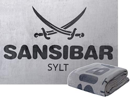 Sansibar Wohndecke Kuscheldecke Tagesdecke Sofadecke Microfaser 150x200 cm Silber