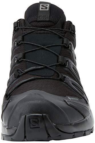 Salomon XA Pro 3D V8 GTX, Zapatillas Impermeables de Trail Running y Senderismo Mujer, Negro (Black/Black/Phantom), 41 1/3 EU