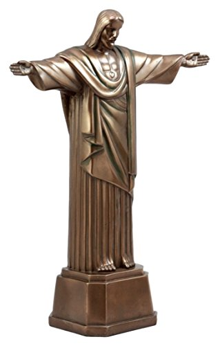 Ebros Gift Christ The Redeemer Statue of Jesus Brazil Corocovado Mountain Landmark Figurine 11.5' H