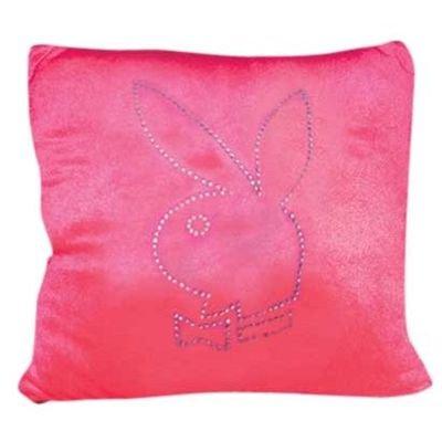 Playboy 10159200 Kissen eckig Strass-Outline dunkel pink 35 x 35 cm