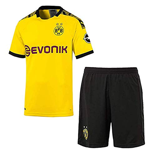 GSPURS 2019-2020 Neue Saison Borussia Dortmund Fussball Trikot Shorts Socken # 11 Marco Reus Fußball Trikot für Kinder Jugendliche Erwachsene-2-4-5(Height:115-125cm)