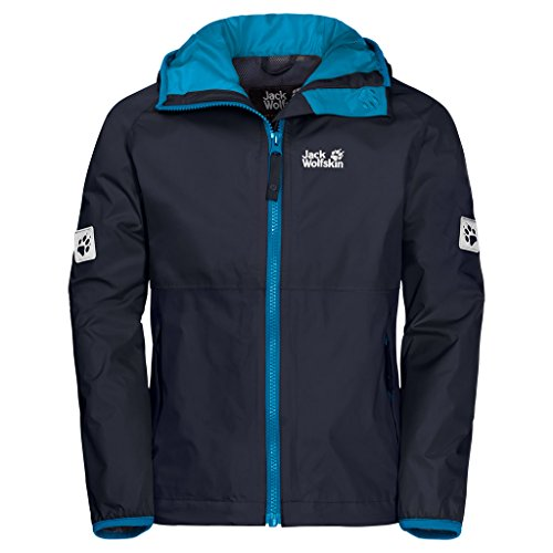 Jack Wolfskin Rainy Days Boys Luchtdoorlatend waterdicht winddicht reflectoren outdoor, weerbestendig, regenjas weerbestendige jas