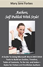 Authors, Self Publish With Style!