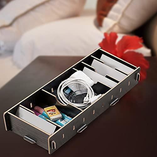 Caja de almacenamiento de escritorio, tarjetero a prueba de humedad, diseño desmontable de gran capacidad para almacenamiento de tarjetas de visita en la oficina(black)