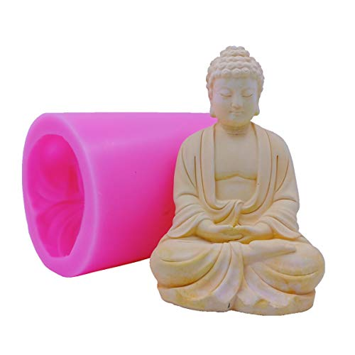 Big Size Buddha Candle Mould Silicone Mold for Handcraft Candle Making Decorated Resin Craft Molds Gypsum Cement Statue Silicone Moulds -  Great Mold