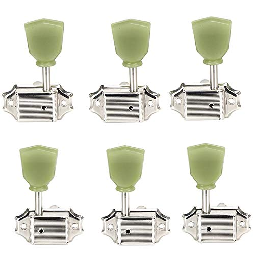 Guitar Parts XSXS-A Set 6 Pcs Max 61% OFF We OFFer at cheap prices Button Green Trapezoid Retro Jade