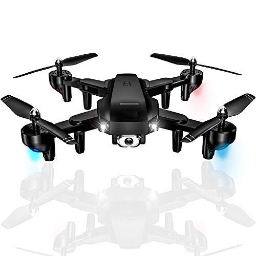KAIFH Drone 1080 Doble Avión No Tripulado Cámara Doble Fija Corriente De Luz Alta Antena A Distancia Control Remoto Avión De Cuatro Ejes Avión De Un Solo Botón Modo Sin Cabeza Foto Video,1
