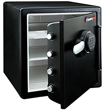 SentrySafe Fire Resistant and Water Resistant Safe, Advanced Protection for the Irreplaceable, 1.23 Cubic Feet, SFW123FUL