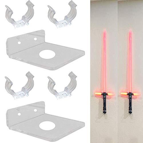 Pmsanzay (2 unidades) de acrílico transparente para Star Wars Light Saber FX Master réplicas Graflex LED, espadas de doble hoja – sin espada de luz