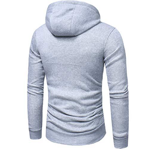 Z&Y Glaa Mens Plain Colour Zip Up Hoodie Casual Fleece Sweatshirt Hooded Jacket Hoody Top Jacquard Sweater Men Sports and Fitness Cardigan Hooded Jacket Hooded Sweatshirt with Side Pockets Hoody