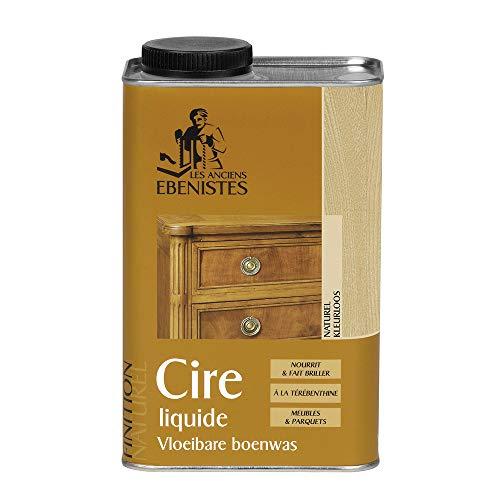 cera liquida natural Lakeone ideal para nutrir y avivar muebles, parquets y la carpintería de madera de interior. - 1 litro -