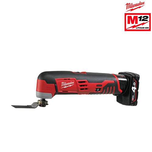 Milwaukee 4933441705 – C 12 mt-402b-Multifunktionswerkzeug 12 V Li Ion, 3.0, 5000 – 20000spm, 2 BAT 4,0 Ah