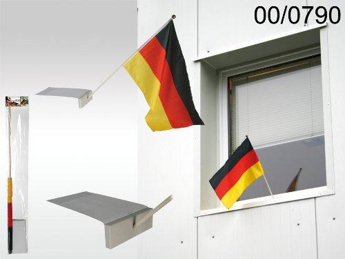 FRIP - Deutschland Fahne Flagge für Fenster, komplett mit Halterung, einfach anzubringen