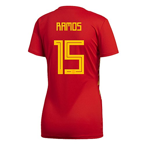 adidas Ramos #15 Spain Home Women's Soccer Jersey World Cup Russia 2018 (XL)