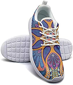 Boho Multicolor Tribal Ladies Sneakers for Women Low Top Non-Slip Run Shoes