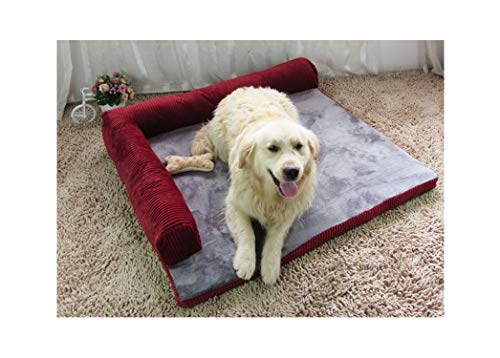 Small Middle Large Breed Dog Bed Sofa Mat House Cot Cat Pet Bed House for Big Dogs Cushion Supplies Bed Blanket Mat,Red only Bed,S 55X45X13CM