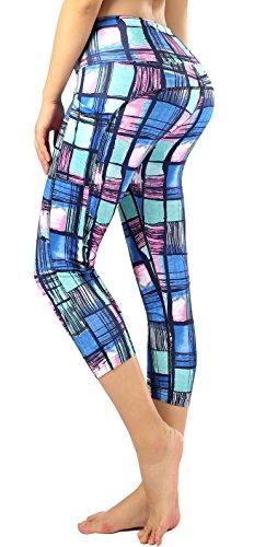 Sugar Pocket Women Running Yoga Pants Patterned Capris XL(06)