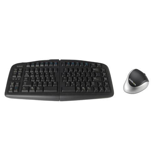 Goldtouch GTF-KLH V2 Adjustable Keyboard and Comfort Mouse Bundle, Left-Handed