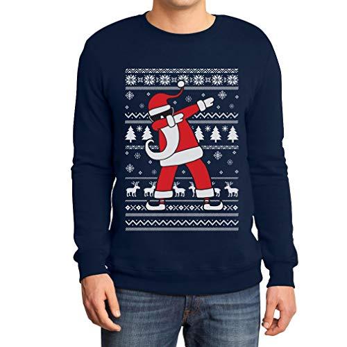 Weihnachten Dab vom Weihnachtsmann Weihnachtspullover Xmas Pulli Sweatshirt Medium Marineblau