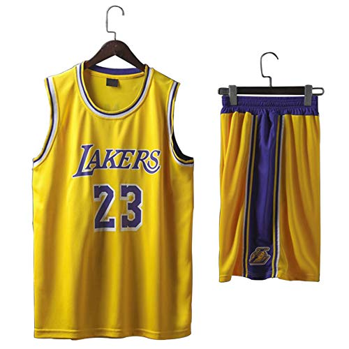 QJJ LeBron James - Juego de camiseta de baloncesto (camiseta + pantalones cortos) para entrenamiento de competición, uniforme de baloncesto, talla XXXXL
