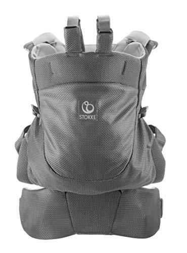 STOKKE® MyCarrier™ Rückentrage – Mitwachsende Babytrage für Kleinkinder – Zubehör für 3 in 1 Tragesystem aus Bio-Baumwolle – Ultraleicht & ergonomisch – Farbe: Grey Mesh