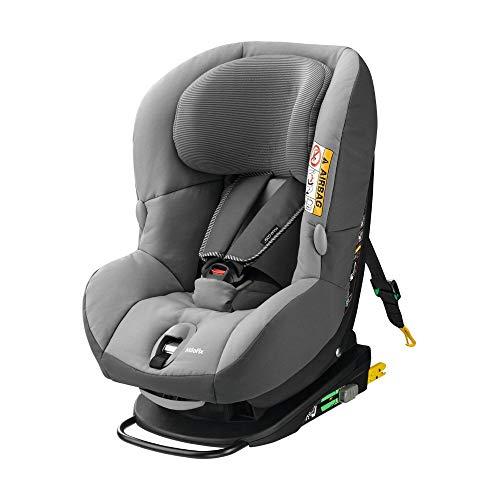 Maxi-Cosi MiloFix Kindersitz, Gruppe 0+ /1 Autositz (0-18 kg), Reboarder mit Isofix, nutzbar ab der Geburt bis ca. 4 Jahre, nomad grey