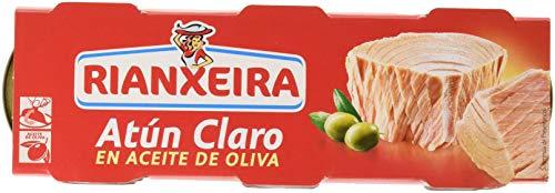 Rianxeira, Conserva de atún claro en aceite de oliva - 18 latas de 80 gr. (Total: 1440...
