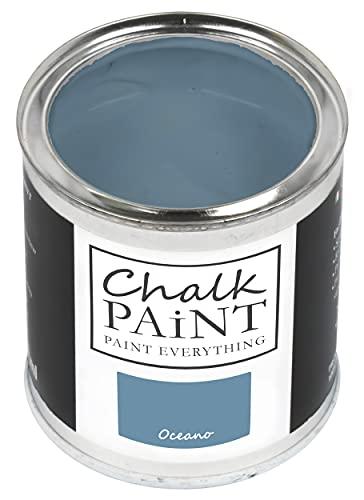 CHALK PAINT Oceano 750 ml - SENZA CARTEGGIARE Colora Facilmente Tutti i Materiali