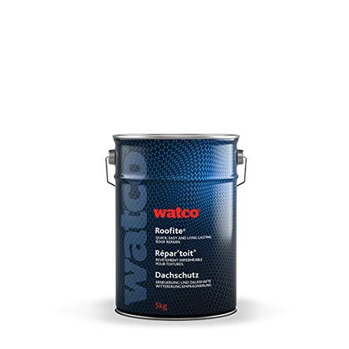 Watco Répartoit peinture détanchéité toiture à base de caoutchouc, stoppe les fuites, Noir (5kg)
