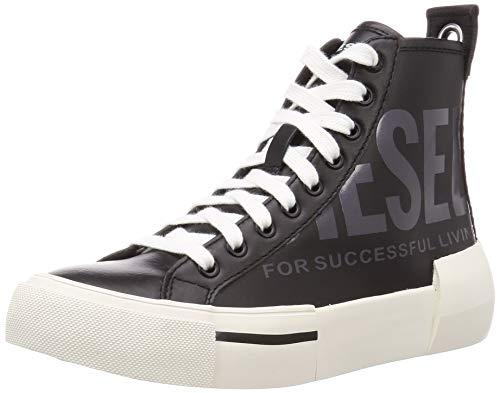 Diesel Damen S-DESE Cut W-Sneaker mid Turnschuh, schwarz/Gunmetal, 38 EU
