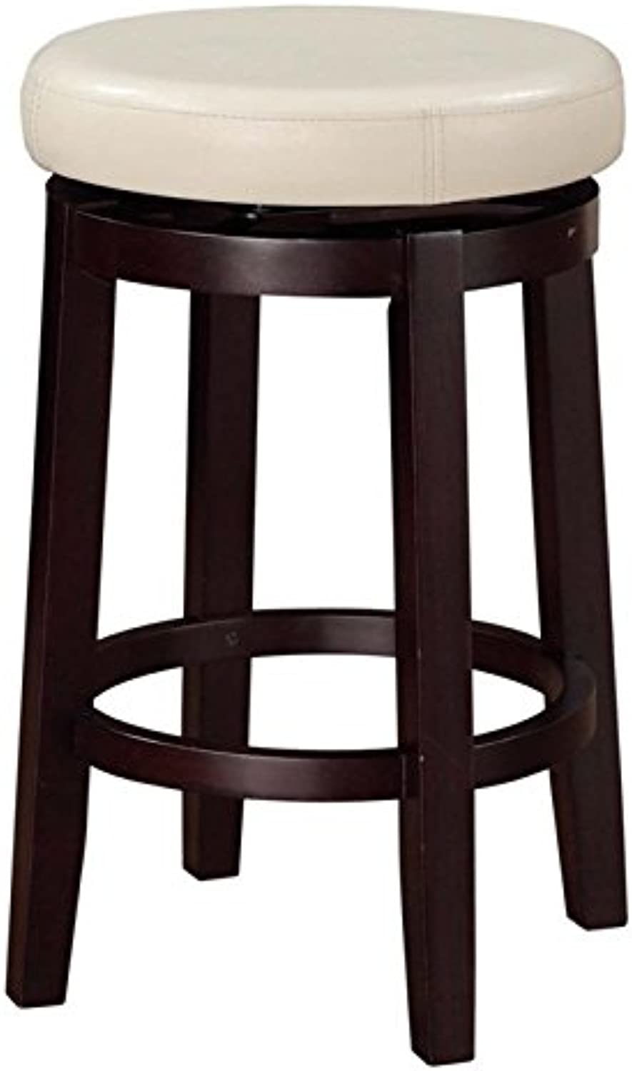 Pemberly Row 24  Swivel Counter Stool in Rice