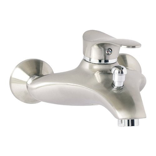 """Edelstahl Einhandmischer Wannenarmatur Badarmatur Badewannen Wasserhahn von FERRO Modell \""""SWING PVD\"""""""