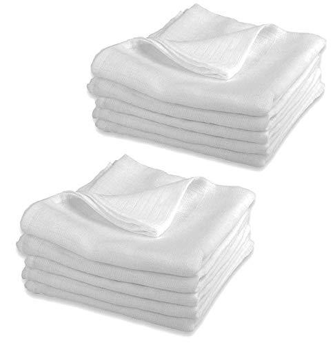 Mullwindeln LUX - 10er Pack weiß 80x80 cm | PREMIUM QUALITÄT - Stoffwindeln & Mulltücher fürs Baby