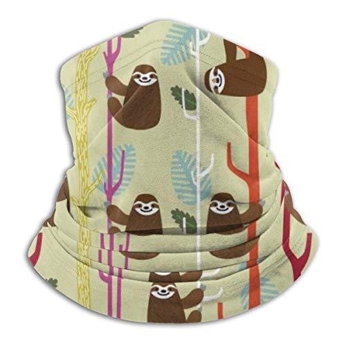 Etryrt Sloth - Passamontagna invernale in pile, morbido, elastico, senza cuciture, colore: Marrone