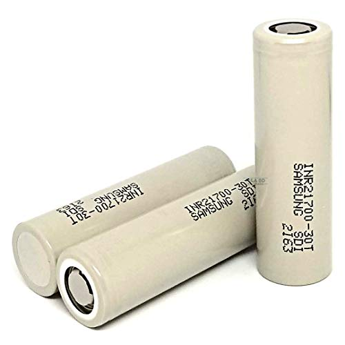 2 Pack of 3000mAh, Gray-Series, 35A, Replacement for Rechargeable 21700-Flat-Top-Battery, for LED Flashlight, Tools, etc