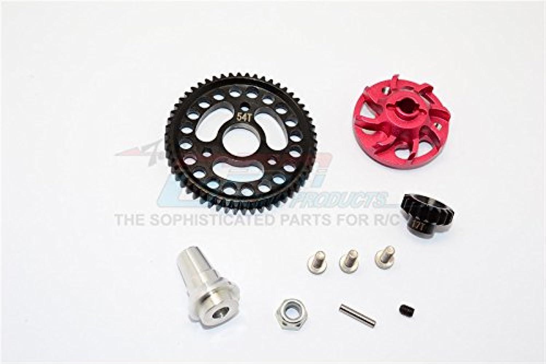 Steel Red Set 1 - Gear Motor 17T & Gear Spur 54T Pitch 32